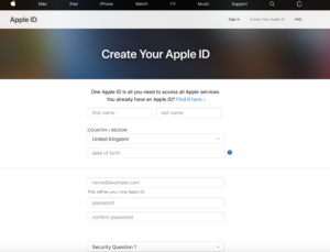 Crear Apple ID